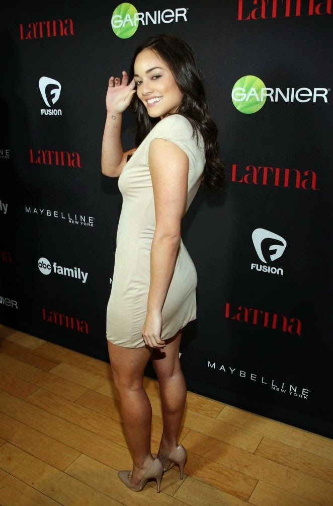 64722113b7 Alexandra Rodriguez s cream dress on the Latina Magazine party at West  Hollywood