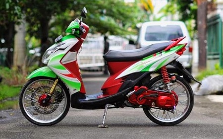 modifikasi motor yamaha  jupiter