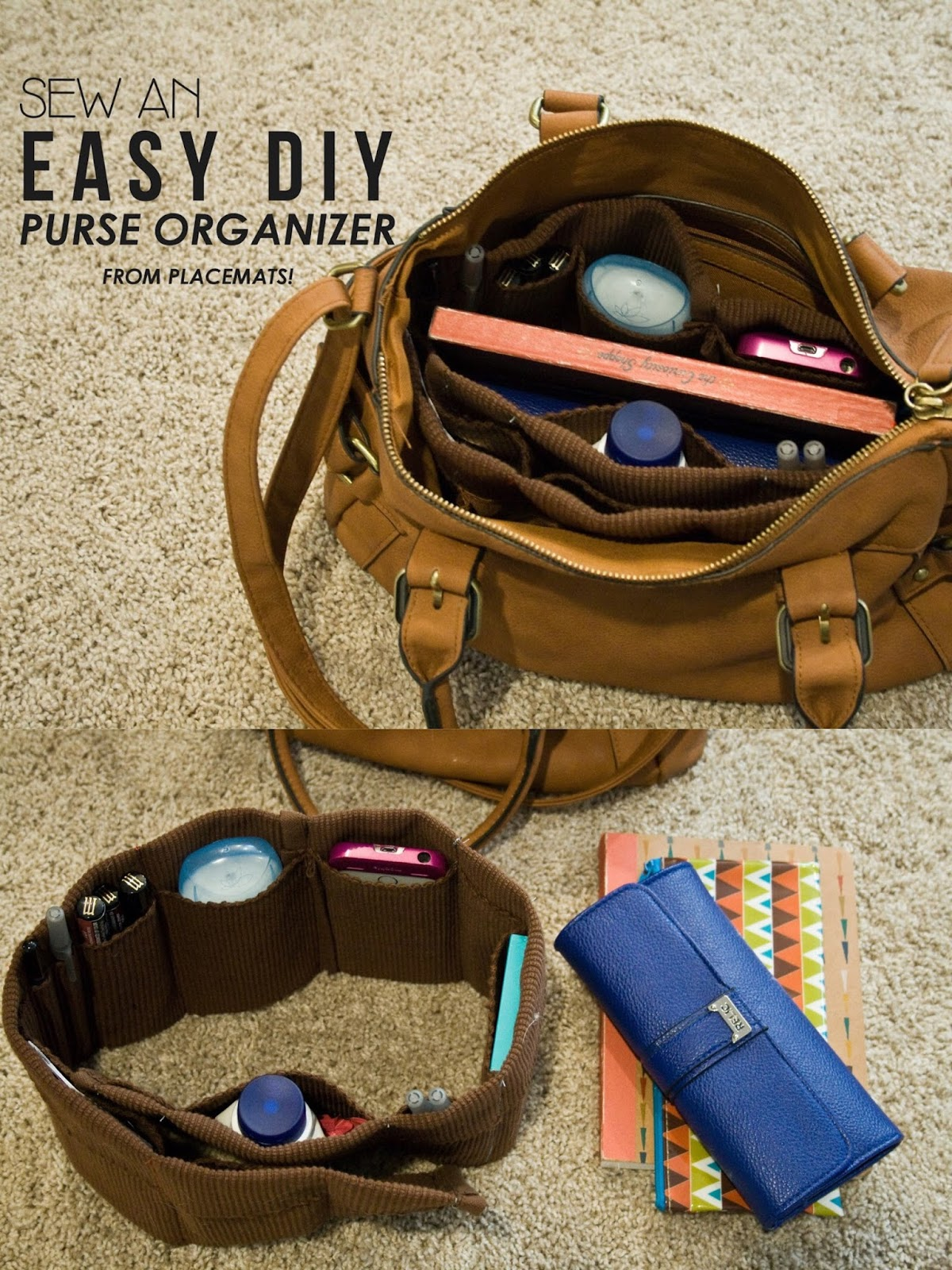 Make it Monday // Easy Purse Organizer DIY from Placemats