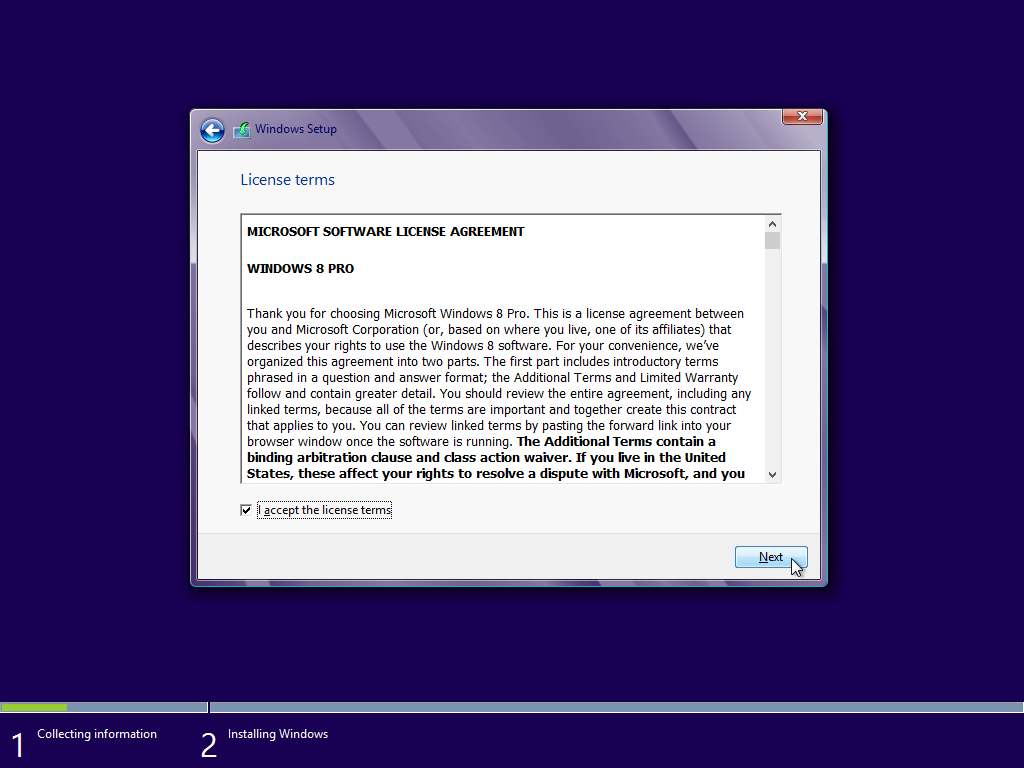 windows 8 license terms