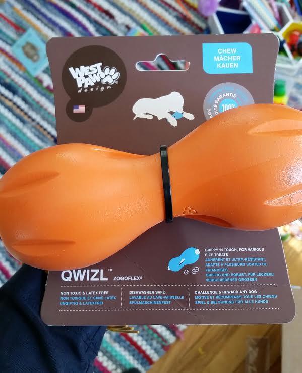 Little island studios west paw design 39 s qwizl doggie toy for Little island design