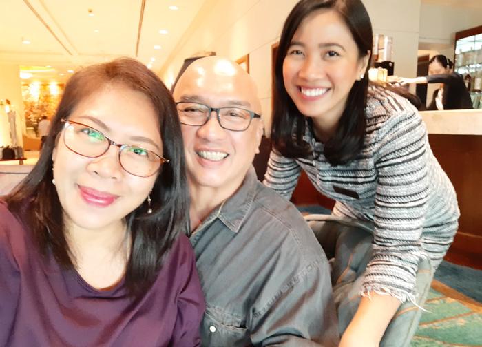 With Mindanao Times' Mike Dakudao and Marco Polo Davao Comms Officer, Jeline Gison