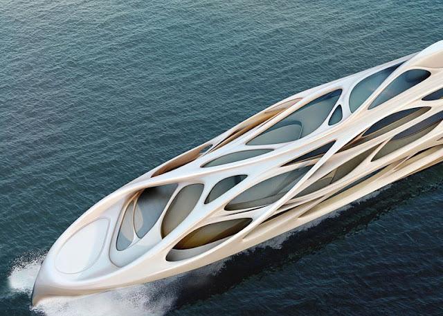 thiết kế siêu du thuyền bởi zaha hadid