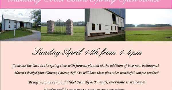 NoLo Weddings & Events: Barn Wedding Venue-- Open House