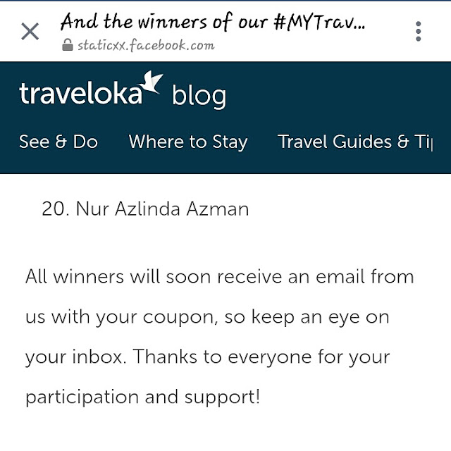 Rezeki Menang Contest Traveloka #traveladventure
