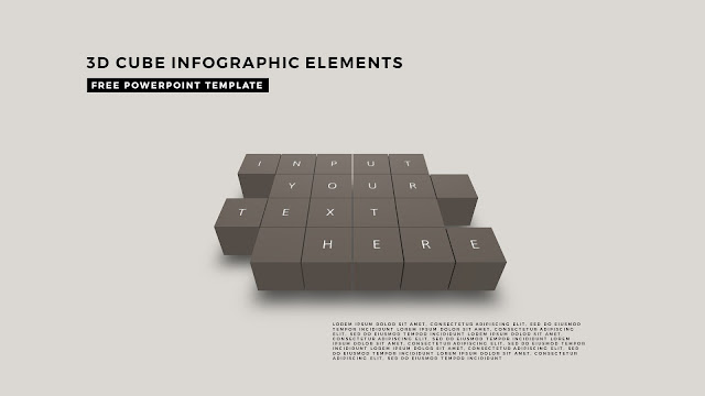 3D Cube Infographic Elements for Free PowerPoint Template Design Slide 1