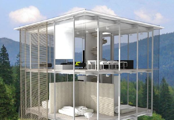Transparent Glass House Design Ideas On The Outskirts Of