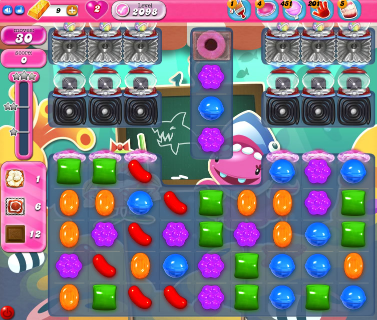 Candy Crush Saga level 2098