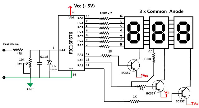 seven segment led display system