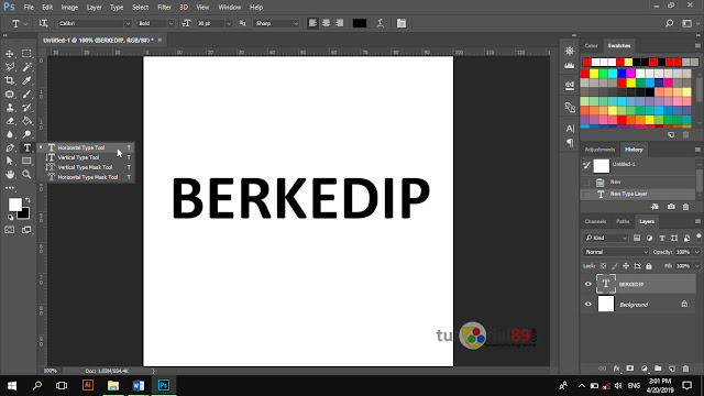 Cara membuat tulisan berkedip format gif di photoshop + video