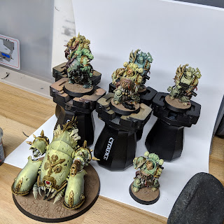 The armour plated Death Guard completed