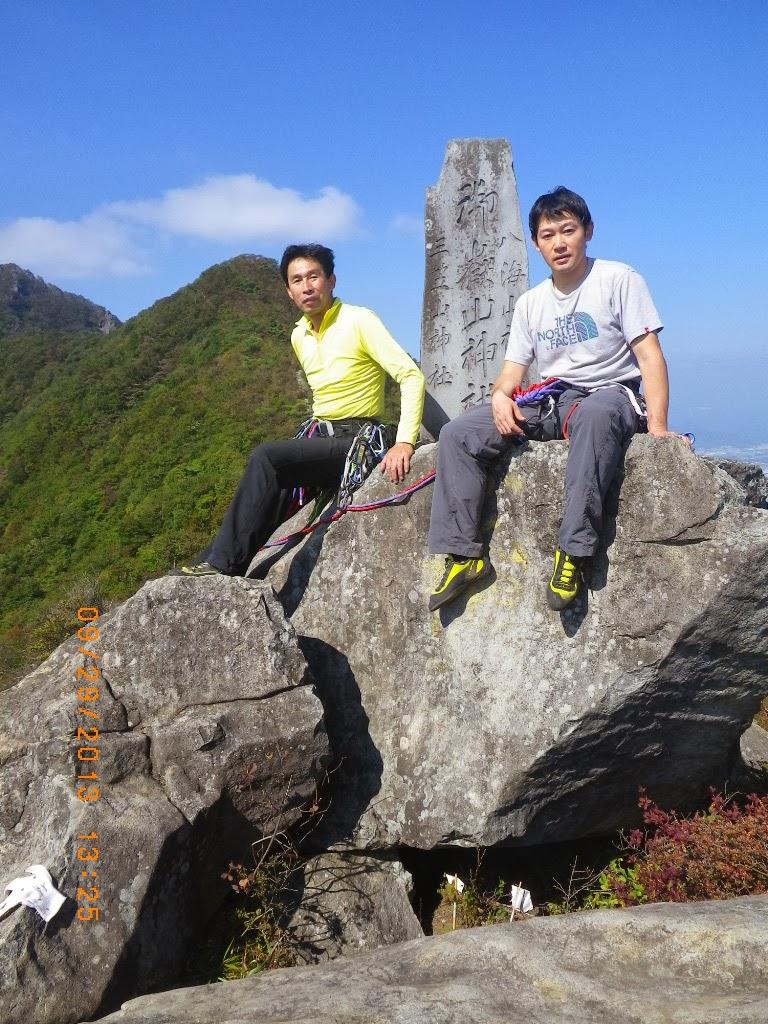 茅ヶ崎山岳会ブログ: 20130929 群馬県 子持山獅子岩マルチピッチ