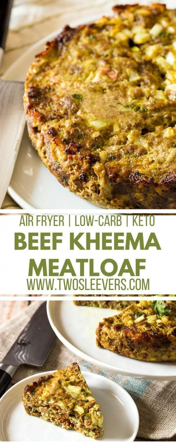 Keto/Low carb Beef Kheema Meatloaf