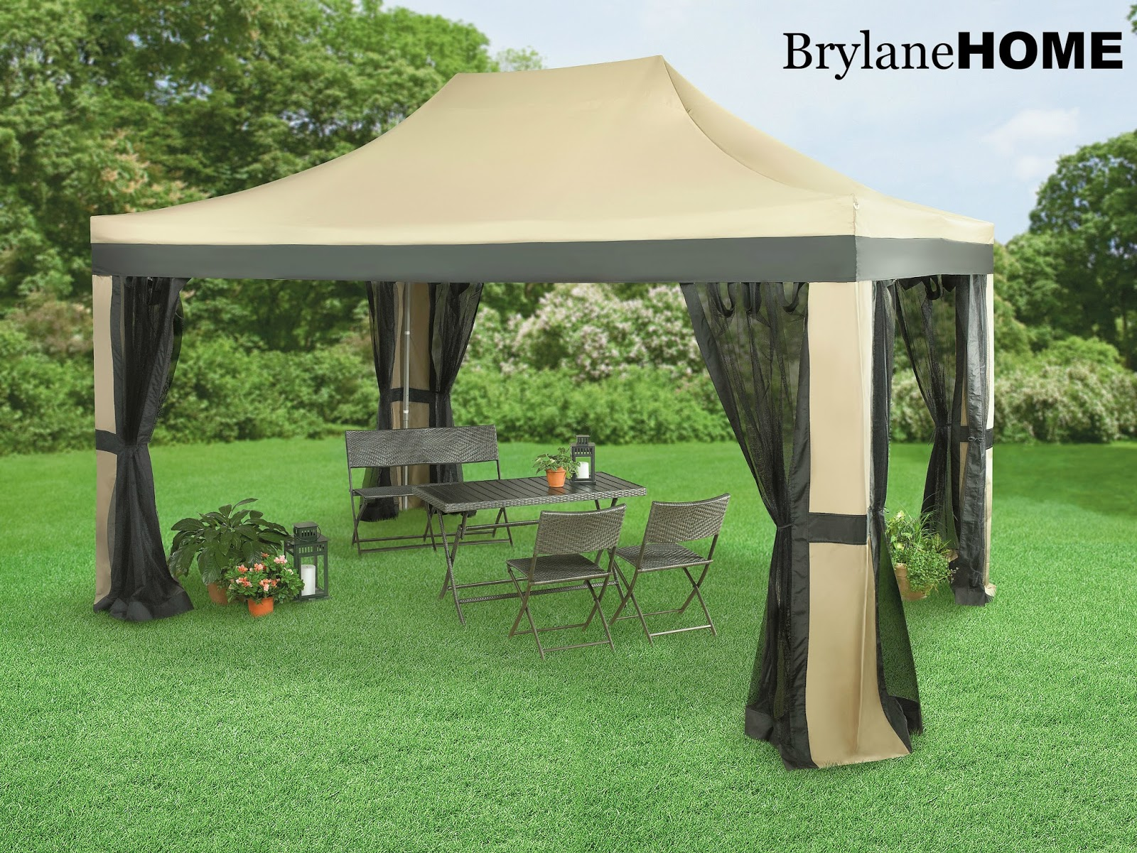 The Oversized 10 X 15 Instant Pop Up Gazebo With Screen Allows You To Enjoy Outdoors Protection From Sun And Bugs
