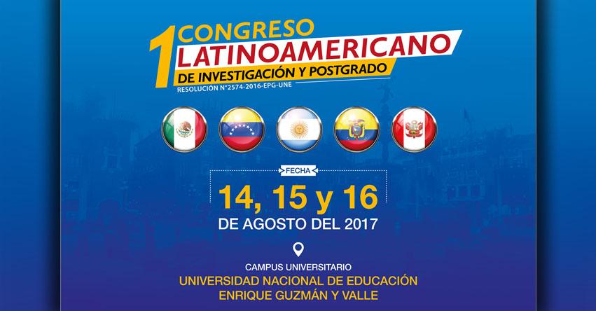 MINEDU: I Congreso Latinoamericano de Investigación y Postgrado - www.minedu.gob.pe
