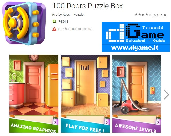 Soluzioni 100 Doors Puzzle Box di tutti i livelli | Walkthrough guide