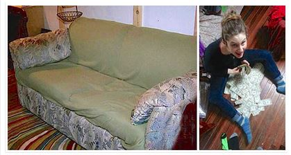 These College Students Bought A $20 Old Couch And What They Found Hidden Inside Is Unbelievable!
