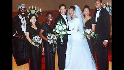 Michelle and Barack Obama wedding