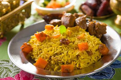 الأرز البخاري باللحم على الطريقة الاردنية