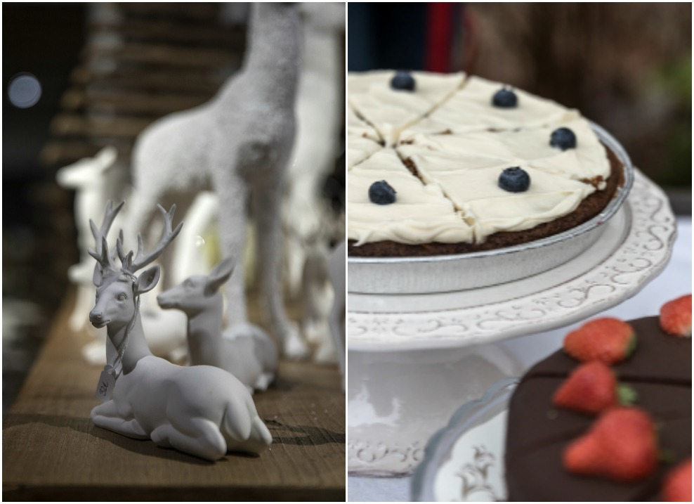 Cafelatte joulutori, Joulumyyjäiset, pellavatyyny, siipityyny, handmade, Visualaddict, Frida Steiner, peurat, Cafelatte, porkkanakakku, Safkala