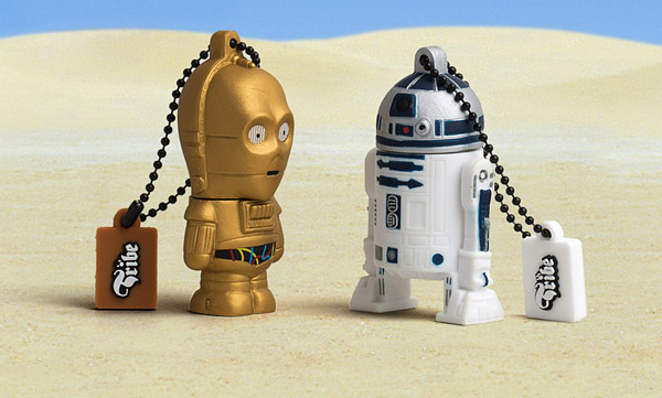 Homenaje a Star wars con memoria flash o usb