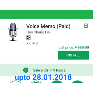 Voice Memo paid app free download here