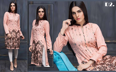 Areeba Saleem embroidered lawn kurti collection