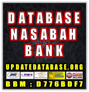 Jual Database Nasabah Prioritas Bank