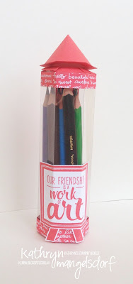 Kathryn Mangelsdorf Stampin' Up! Onstage Painter's Palette Pencil Gift