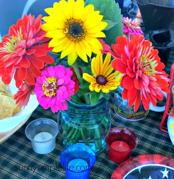 glamping flowers
