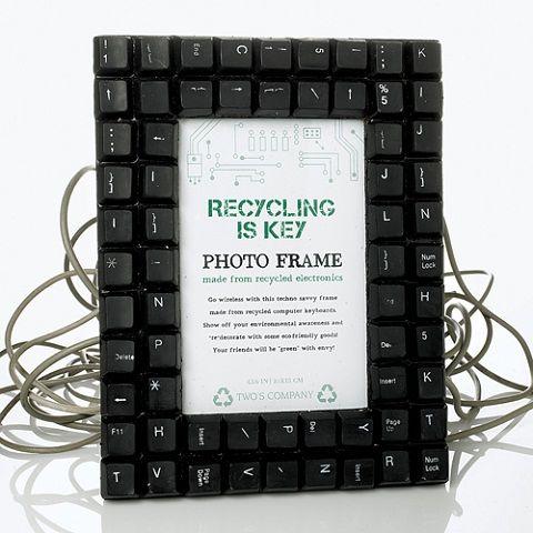 lembrancinha reciclagem dia pais porta retrato