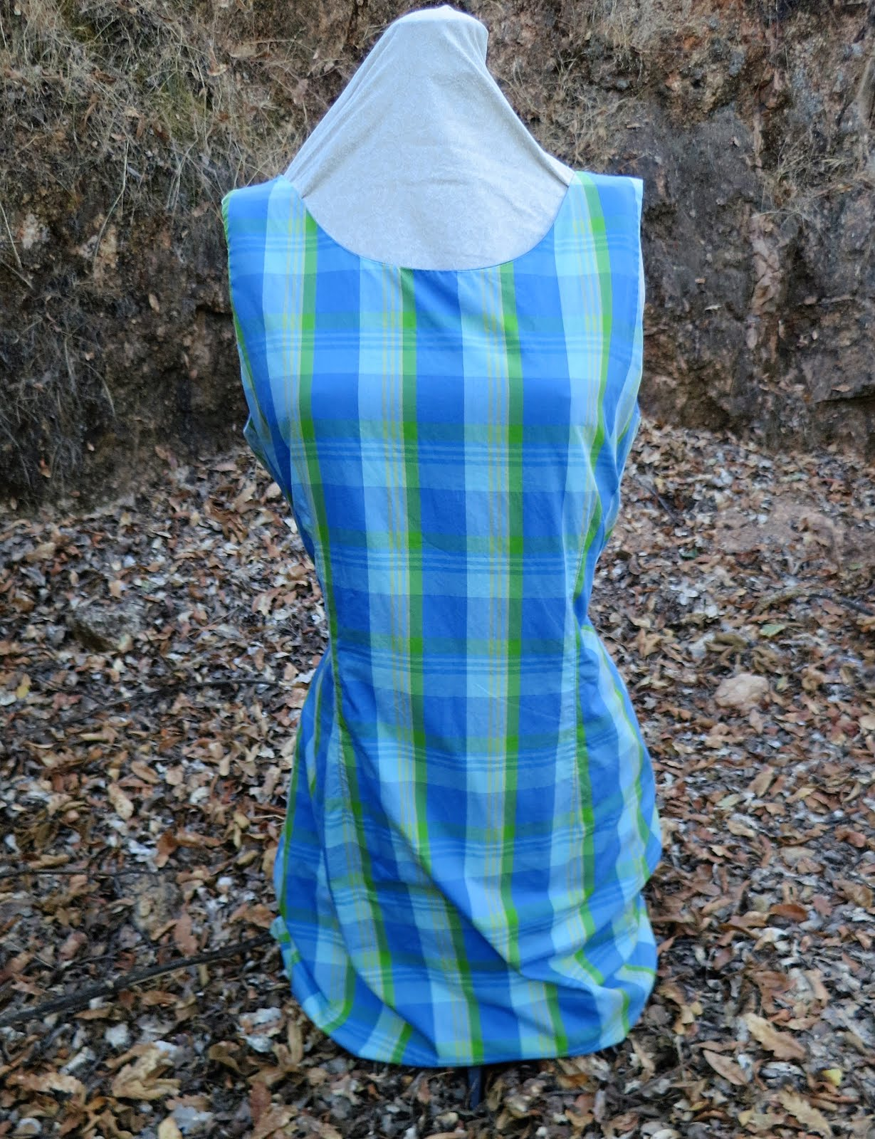 67d50c191bfc Sally Stand-In comes to my rescue again continuing with my Summer Shift  Stravanganza thrift shop find of this Petite Sophisticate plaid dress ( 8 at  ...