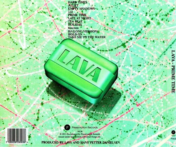 LAVA - Prime Time [First time on CD digitally remastered +3] (2015) back