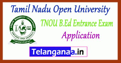 TNOU Tamil Nadu Open University B.Ed Application 2018-19