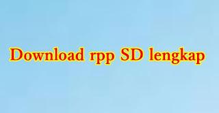 download rpp sd berkarakter