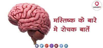 HUMAN BRAIN IN HINDI FACTS, GK मानव मस्तिष्क के बारे में रोचक तथ्य