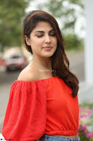 Rhea Chakraborty in Red Crop Top and Denim Shorts Spicy Pics ~  Exclusive 129.JPG