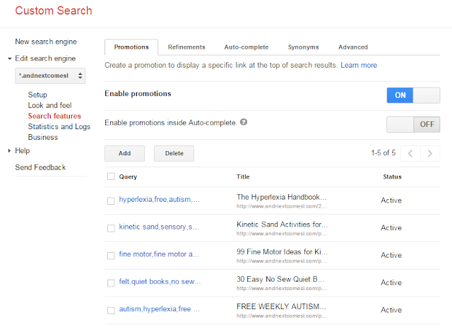 How to promote posts in your google custom search from And Next Comes L