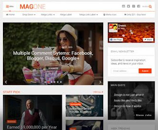 MagOne - Template Blog SEO Friendly & Responsive