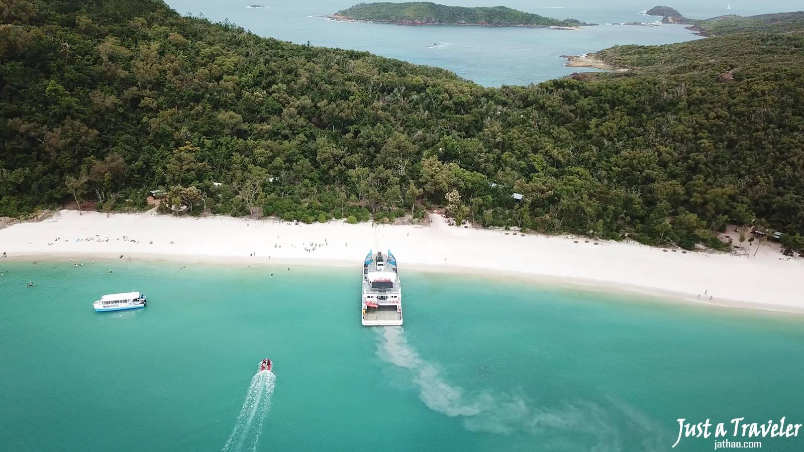 澳洲-聖靈群島-白天堂沙灘-白天堂海灘-景點-推薦-攻略-交通-自由行-遊記-必玩-必去-必遊-行程-一日遊-半日遊-旅遊-Whitsundays-Whitehaven-Beach-空拍