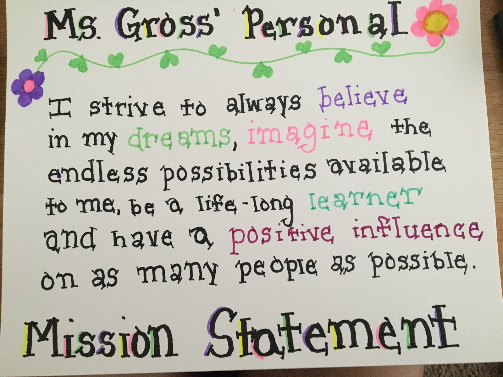 loving literacy sketching in the classroom step 8 my personal mission statement