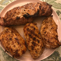 Picture of Pork Tenderloin and Three Chicken Breasts