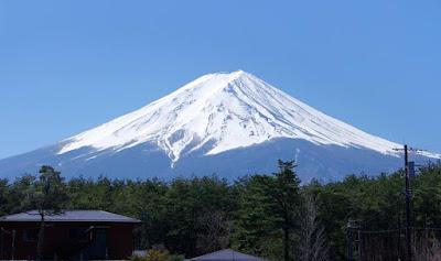 Mt Fuji on a clear blue sky