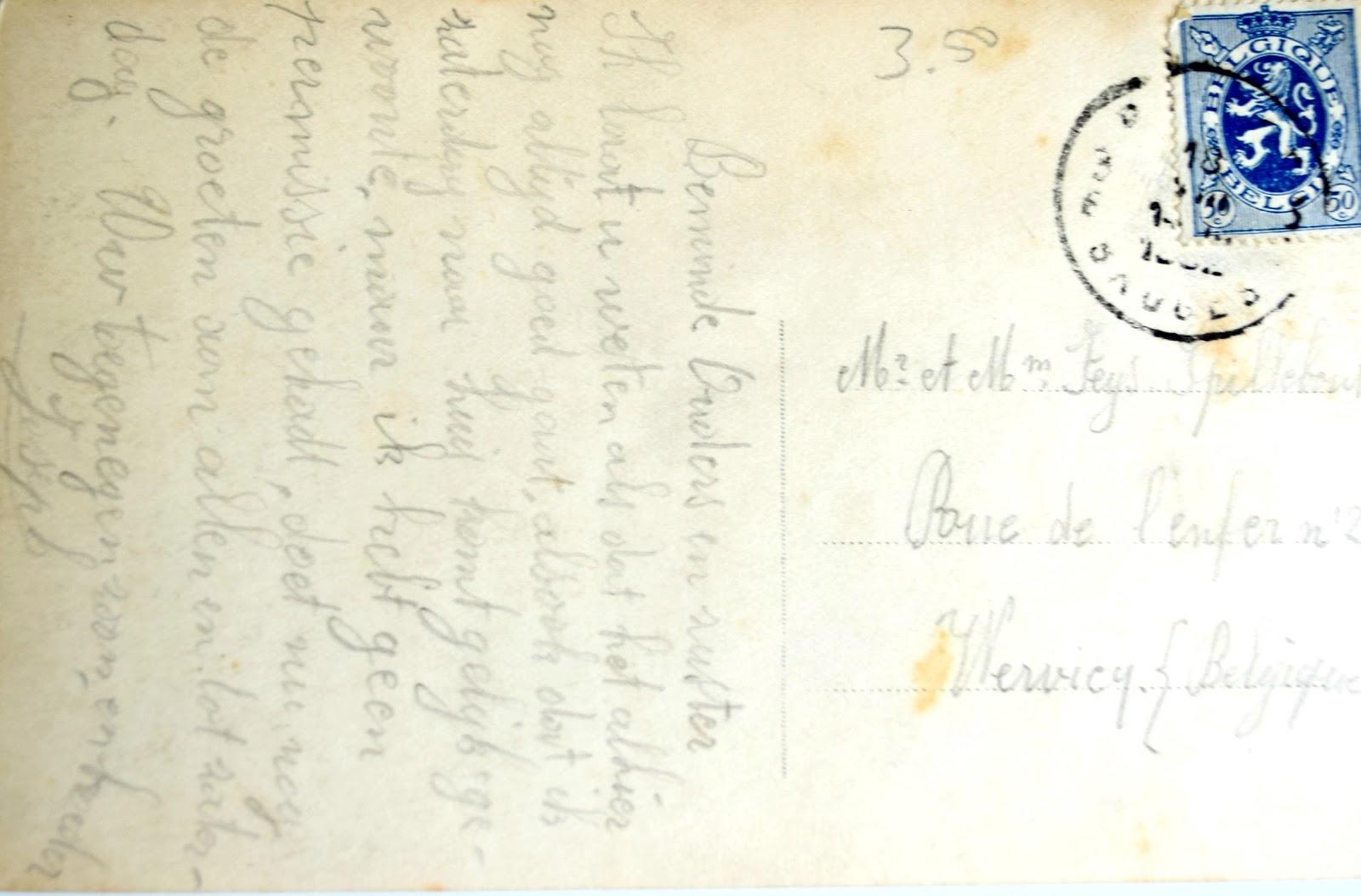 List z okresu wojny