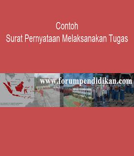Contoh Surat Pernyataan Melaksanakan Tugas | Administrasi