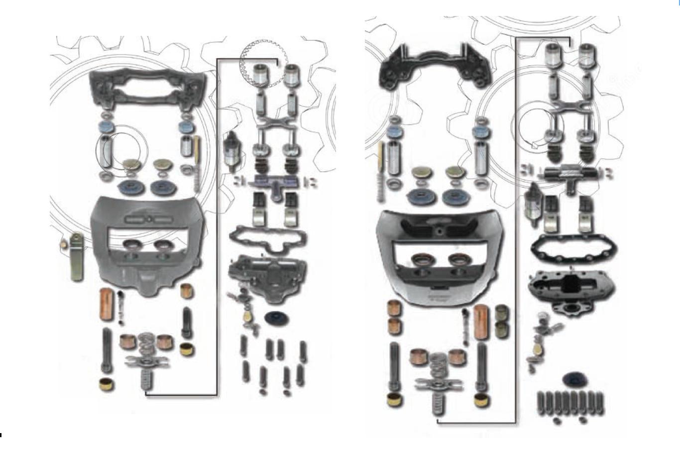 Caliper Repair Kits Knorr Type Meritor Type Wabco Type
