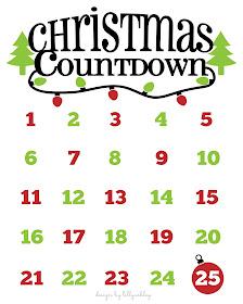 free Christmas printable Christmas countdown to Christmas