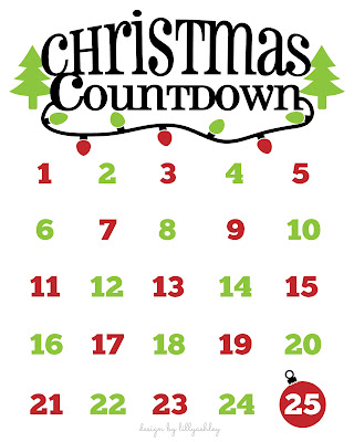 free Christmas printable Christmas countdown to Christmas