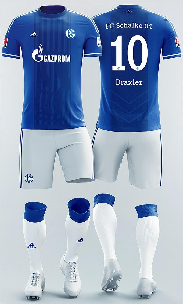 E se fosse assim - Schalke 04 (Alemanha) - Show de Camisas bf5b04f2bdab1