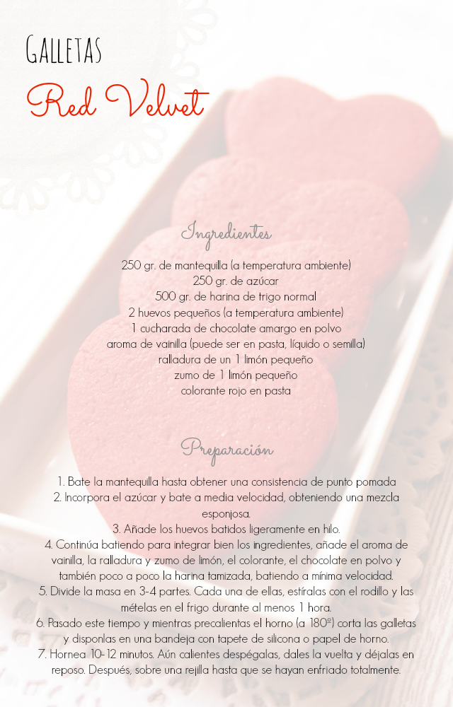 Galletas 'Red Velvet' (para decorar)